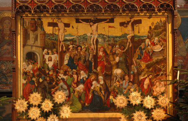 Cerchia Master of  Liesborn, Altare della Passione, Hohnekirche, Soest,  Westfalen, Germania.