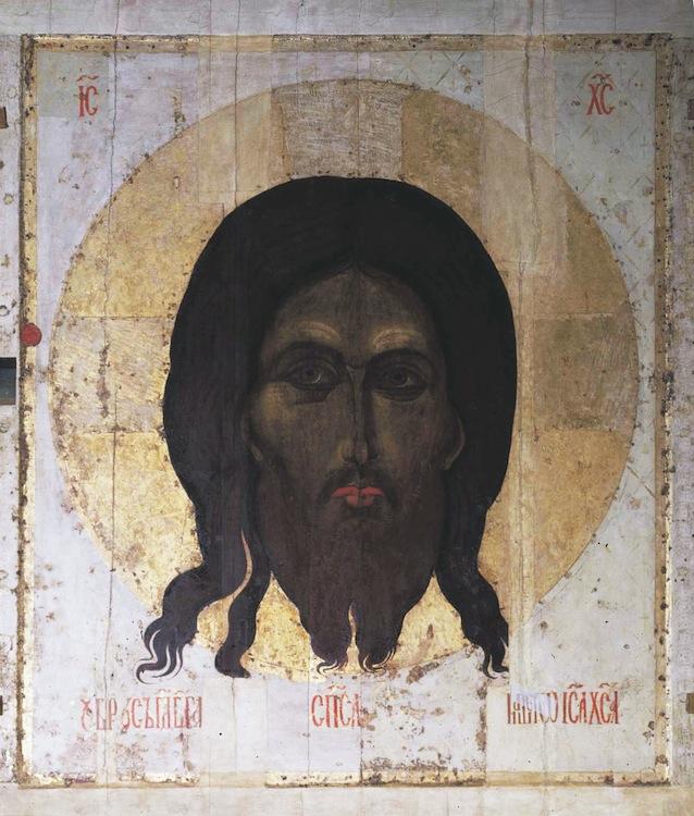Novgorod-fine XIV-Cremlino-Cattedrale-Assunzione-iconostasi
