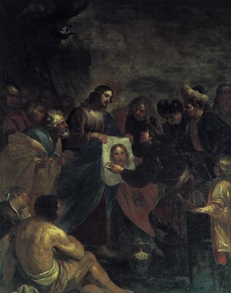 oraziodeferrari-Gesù consegna la veronica ad Anania.