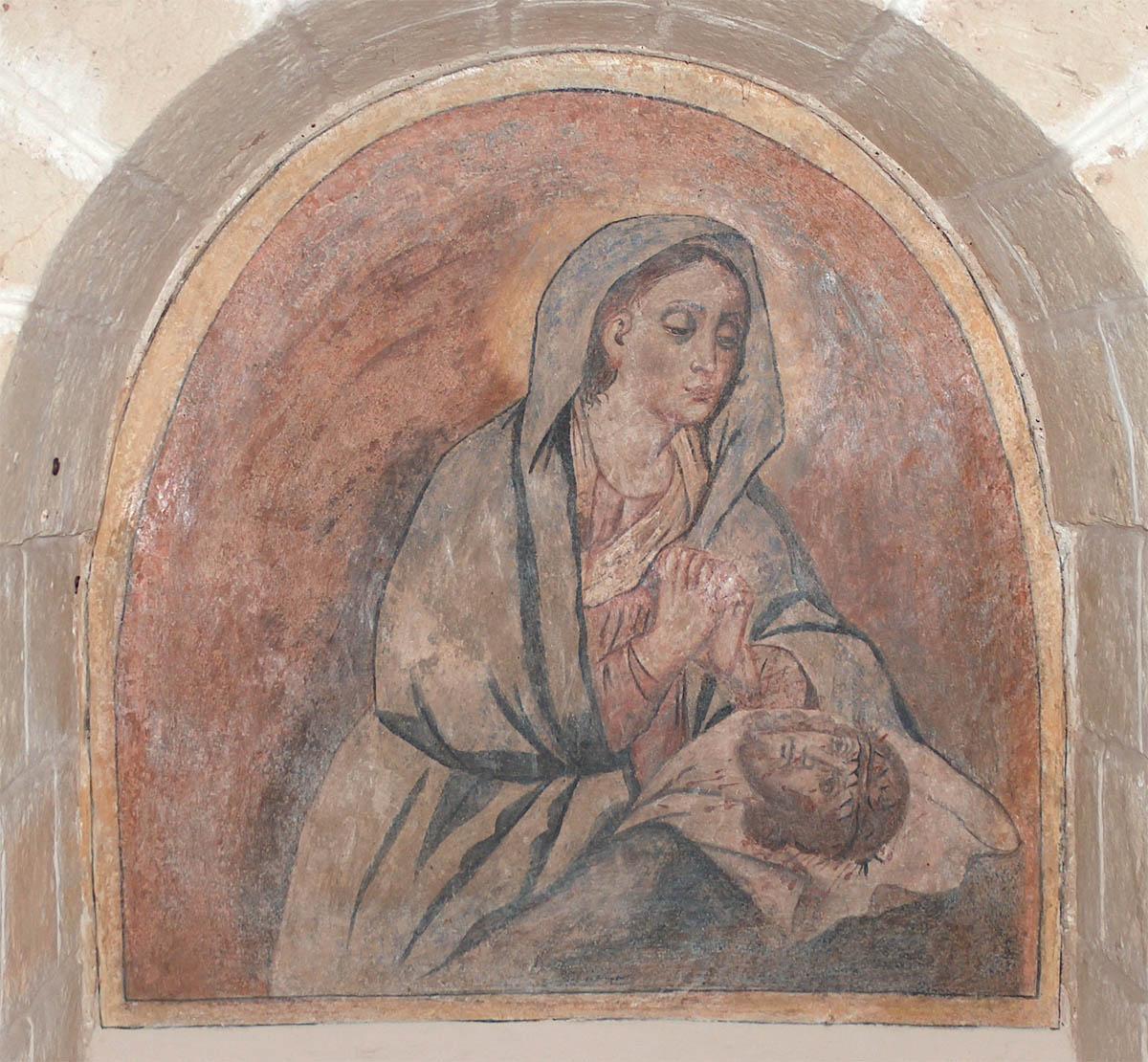 Pittura murale della Veronica a Masseria Incantalupi