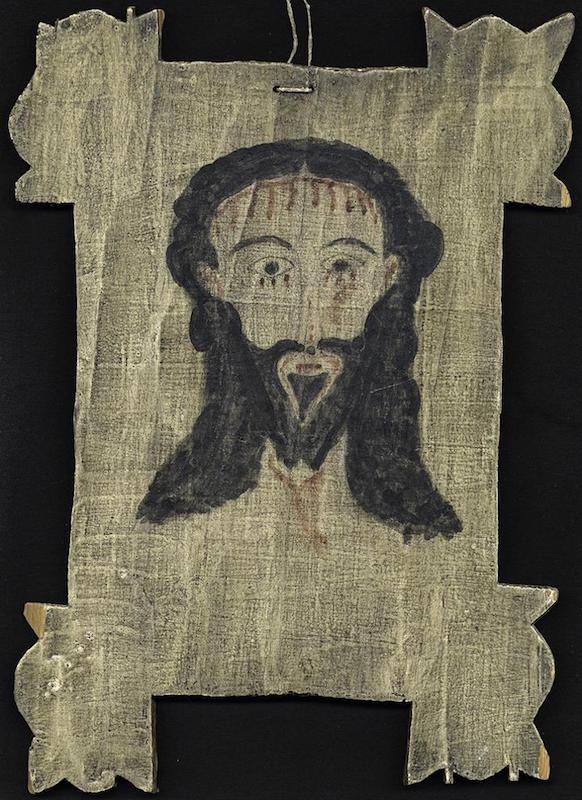 Creator: Shupe, Elmer (American santero); Date: 1961; Location: New Mexico; Material: pigment on wood panel; Measurements: 34.5 x 24.8 cm; Inscription: on back: Veronica - 5/30/61 ES; Notes: Acquisition: 1992, from