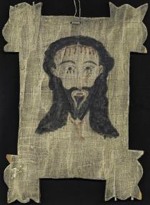 "Creator: Shupe, Elmer (American santero); Date: 1961; Location: New Mexico; Material: pigment on wood panel; Measurements: 34.5 x 24.8 cm; Inscription: on back: Veronica - 5/30/61 ES; Notes: Acquisition: 1992, from ""Lookie Loo's"" Antiquated Furnishings, Albuquerque.;Provenance: from Robert Kerr;Exhibition history: Morrison, CO: The Fort, Tesoro Foundation Spanish Market and Rendezvous, Sept. 2003, 2004, 2005, 2006, 2007.; Accession Number: RU0176-A"